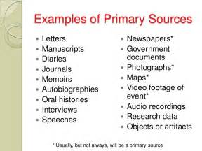 Primary Secondary Sources Research Paper by Research Paper Primary Vs Secondary Sources