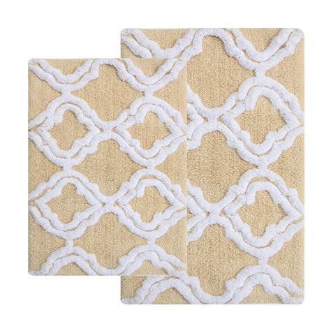 double bathroom rugs chesapeake merchandising double quatrefoil straw 2 ft x 3