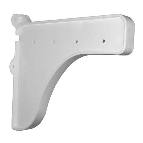 Shelf End Brackets by Rubbermaid 10 In X 36 In White Board With Satin Nickel