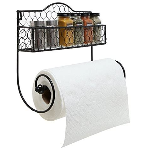 Aluminium Wall Mount Seasoning Rack 80cm wall mounted rustic black metal kitchen spice rack paper towel holder bathroom basket
