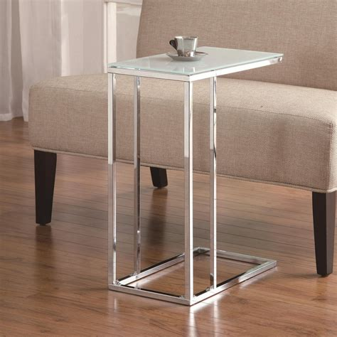 sofa snack table coaster 900250 white glass snack table a sofa