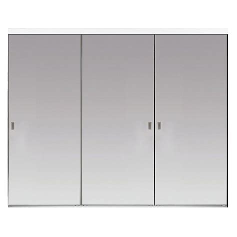 Aluminum Closet Doors Impact Plus 108 In X 80 In Beveled Edge Backed Mirror Aluminum Frame Interior Closet Sliding