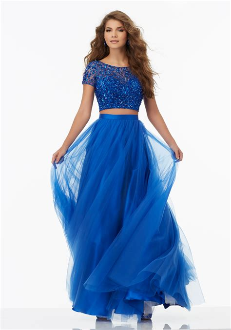 Tulle Top Dress two prom dress with soft tulle skirt style 99130