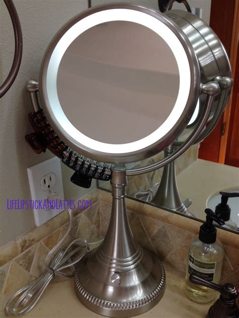 best lighted magnifying mirror life lipstick and lattes costco lighted magnifying