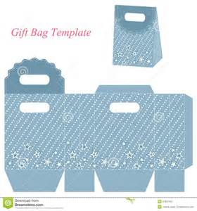 Gift Bag Template by Blue Gift Bag Template With Stock Vector Image