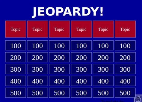 Jeapordy Powerpoint Template blank jeopardy powerpoint template template idea