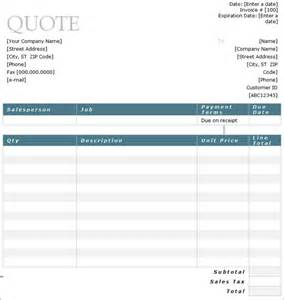 Quote Templates Free by 10 Sle Estimate Templates Free Word Pdf Excel