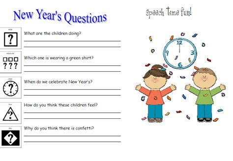 new year activity speech time new year s writing activity freebie