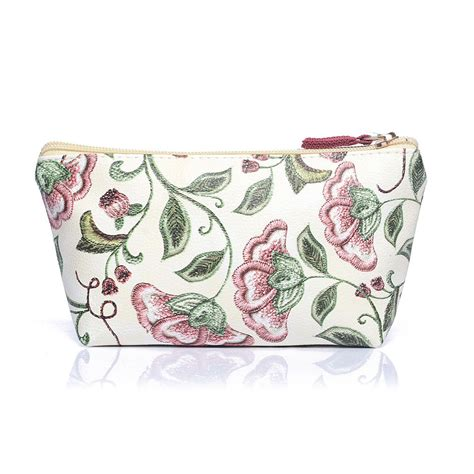 Print Cosmetic Bag beige floral print cosmetic bag from stylish gifts