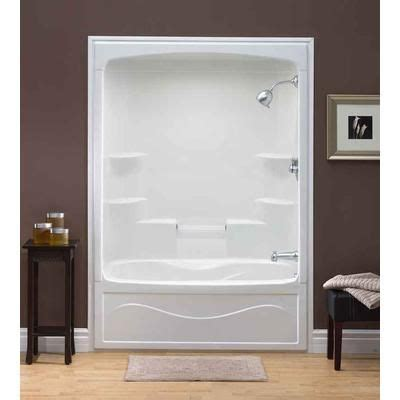 acrylic bathtub shower combo mirolin liberty 60 inch 1 piece acrylic tub and shower