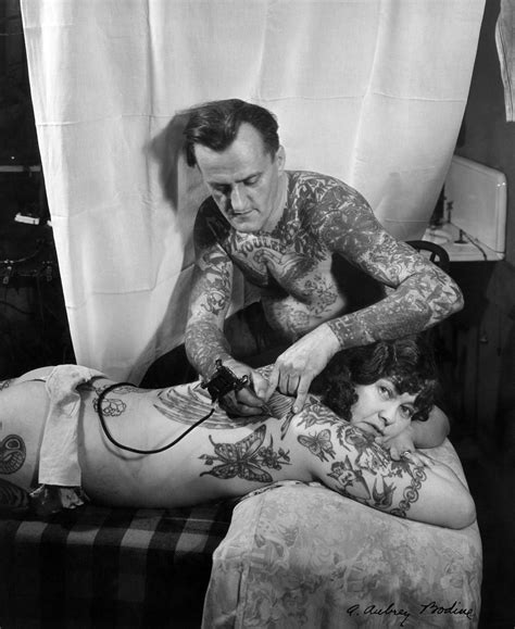 tattoo parlor history bodine s industry the dignity of work by a aubrey bodine