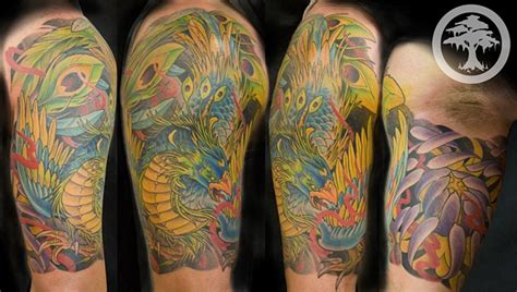 Japanese Phoenix Tattoo Half Sleeve | chris walkin lake charles louisiana tattoo
