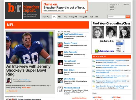 bench report bleacher report gives stage to amateur sports writing