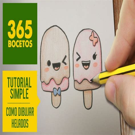 imagenes kawaii de amor para dibujar o dibujar paletas heladas kawaii paso a paso dibujos