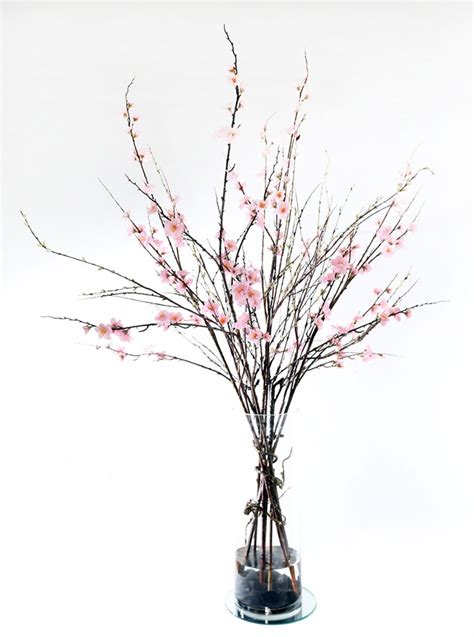 cherry blossom arrangements realistic life like pink cherry blossom with sticks flower