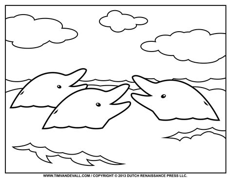 dolphin coloring page printable free dolphin clipart printable coloring pages outline