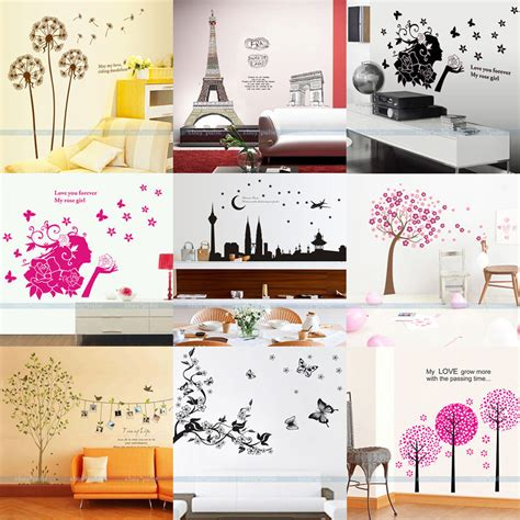 stickers for home decoration new removable vinyl art wall quote kids stickers paper