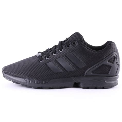 adidas zx flux mens textile black black trainers new shoes