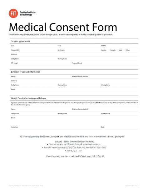 Free Medical Release Template Sle Form Information Consent To Uk Records Free Consent Form Template