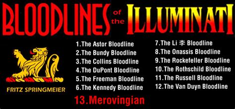 illuminati families 13 bloodlines of the illuminati the merovingian bloodline