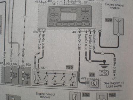 steering wheel stalk wiring diagram  car entertainment