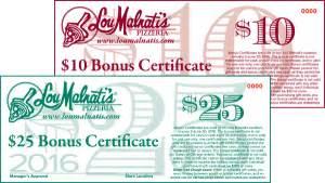deep dish pizza blog lou malnati s pizzeria - Lou Malnati S Gift Card Bonus