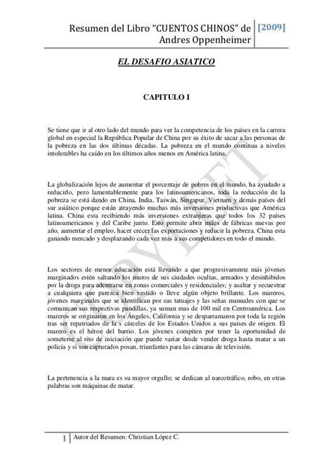 5 Resumenes De Libros Cortos by Resumen De Cuentos Chinos
