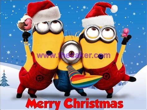 bonita imagen de feliz navidad de minion el meu petit capritx