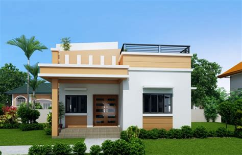 two storey with slab a roof small house plans modern slab house maryanne one storey with roof deck shd 2015025 pinoy