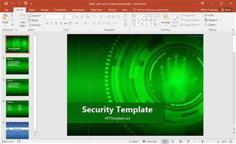 copy template powerpoint free security powerpoint template