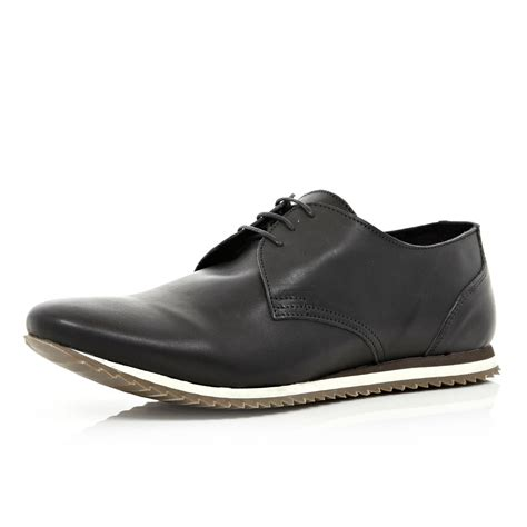river island shoes river island black running shoes in black for lyst