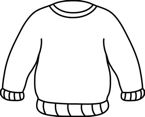 sweater template black and white sweater clip clothes
