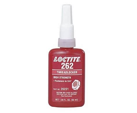 Loctite 262 Threadlocker Medium High Strength Locteti 26241 henkel loctite 262 mil spec high strength threadlocker