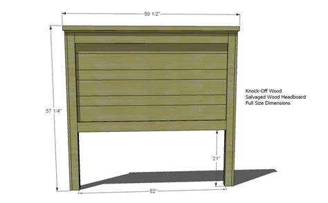 simple headboard plans ana white build a build a reclaimed wood headboard full
