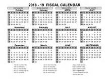 Fiscal Calendar 2018 2018 Fiscal Year Calendar Template Printable Free Templates