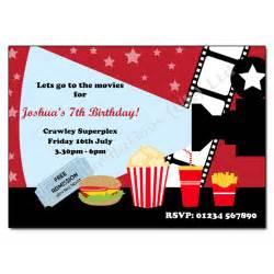 cinema party invitation movie night invitations