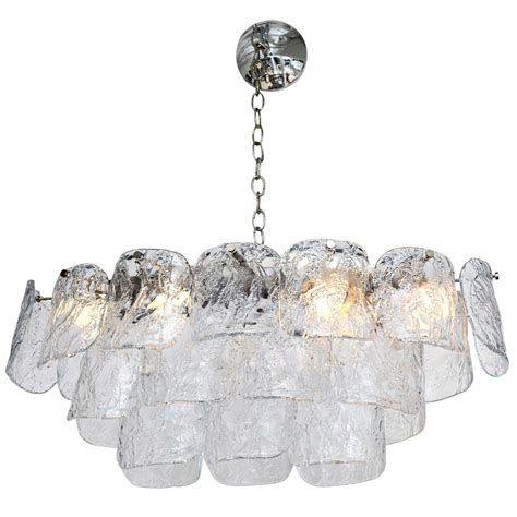 70 S Mazzega Oval Chandelier At 1stdibs Oval Chandeliers