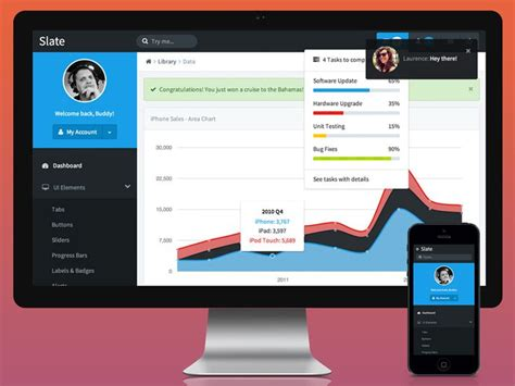 bootstrap themes slate 36 best dashboard ui images on pinterest user interface