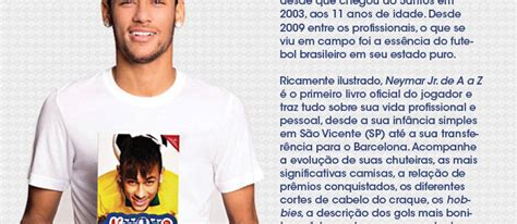 biography de neymar jr livro neymar jr de a a z biografias no pontofrio com
