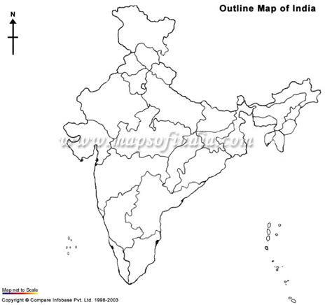An Outline Political Map Of India by Political Free Coloring Pages