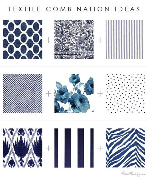 41268 Blue Mix Pattern textile pattern and print combinations florals stripes ikat floral geometric herringbone