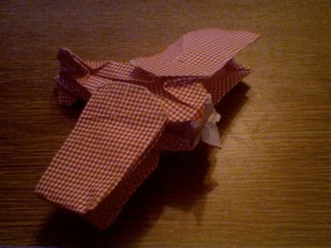 Origami Biplane - biplane by robert lang scrapbook paper wetfolded in 2007