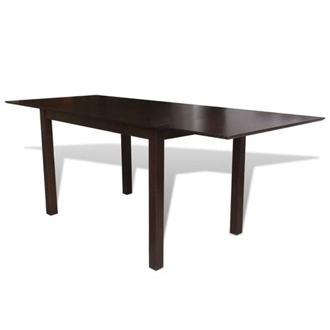 solid wood extending table solid wood brown extending dining table 195 cm vidaxl co uk