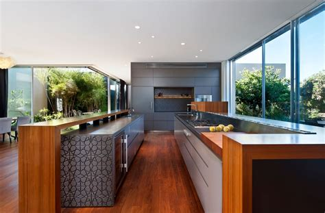 long kitchen designs more tasteful modern villas