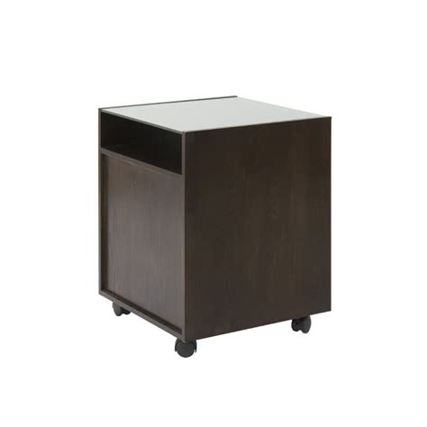 Glass File Cabinet Eurostyle Ballard 2 Drawer File Cabinet In Wenge And Silver Glass 27372