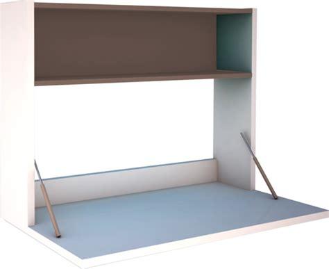 bureaux meubles bureau mural funzy chene chocolat