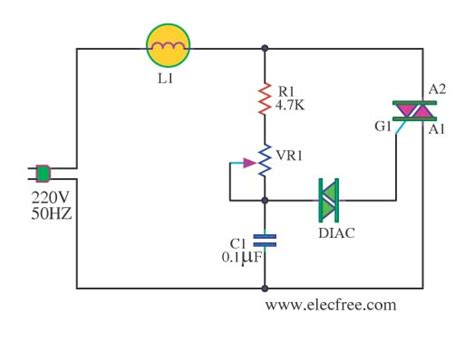 triac diagram ac lights dimmer with triac circuit diagram world