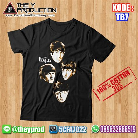 Kaos Band The Beatles 01 Pre Order kaos the beatles tb7 kaosbandbandung