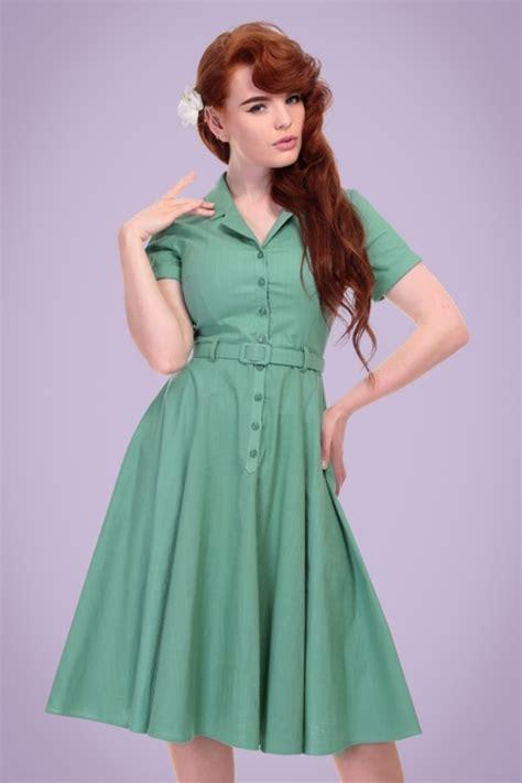 swing kleid mint 50s caterina swing dress in mint green