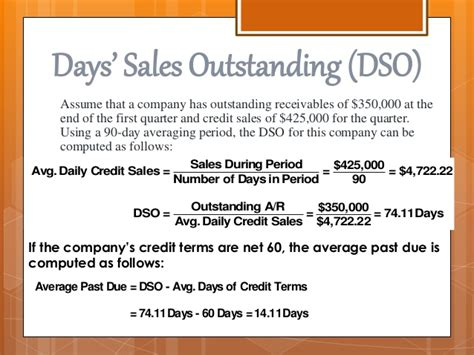 days sales outstanding management of receivables